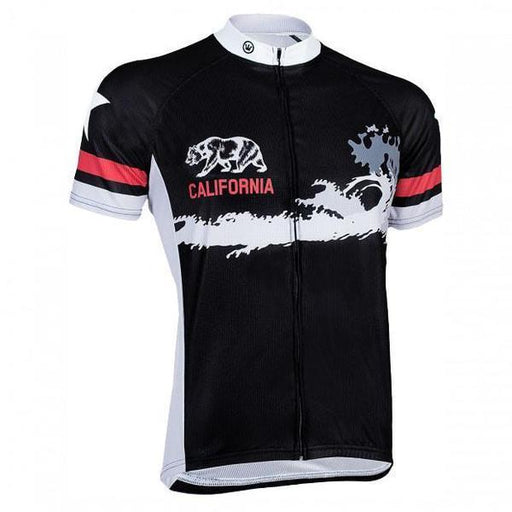 Women's California Bear Black Road Bike Jersey
