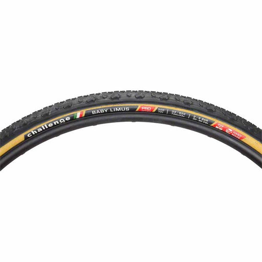 Baby Limus Pro Bike Tire: Handmade Clincher, 700x33, 300tpi, Black/Tan