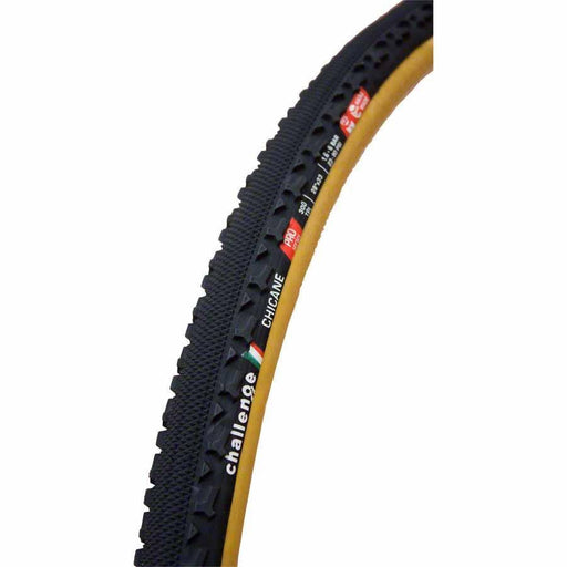 Chicane Pro Bike Tire: Handmade Clincher, 700x33, 300tpi, Black/Tan