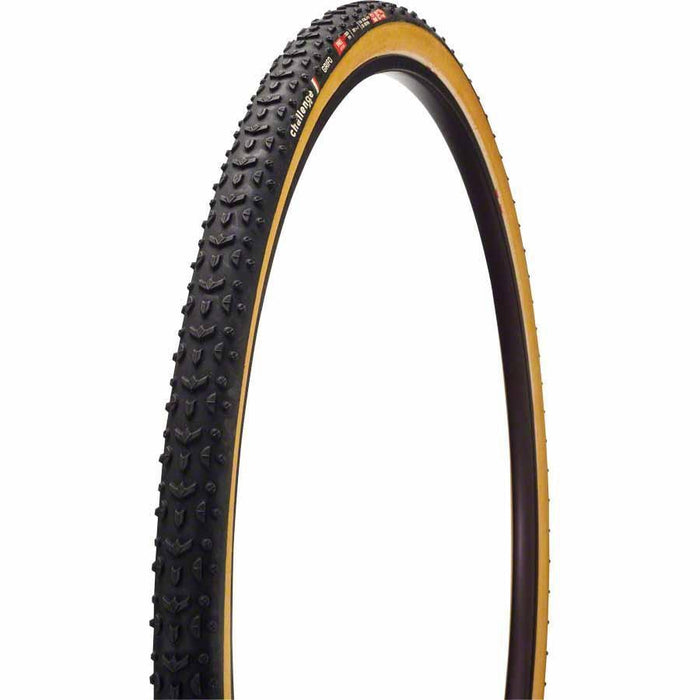 Grifo Pro Bike Tire: Handmade Clincher, 700x33, 300tpi, Black/Tan