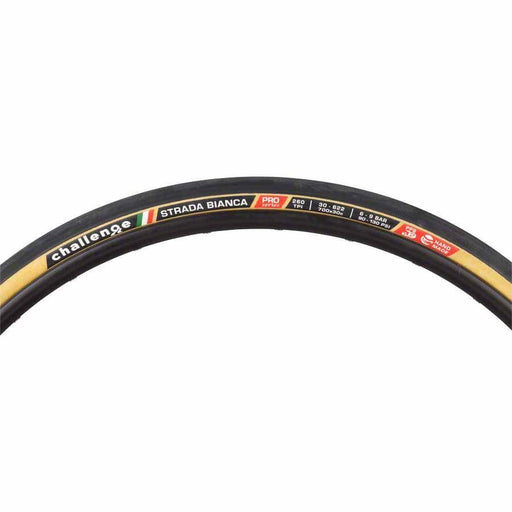 Strada Bianca Pro Bike Tire: Handmade Clincher, 700x30, 260tpi, Black/Tan