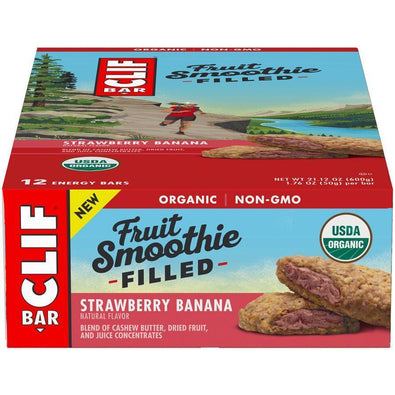 Clif Bar Fruit Smoothie Filled Bar Box of 12
