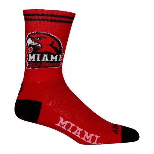College Apparel Miami Ohio Cycling Socks
