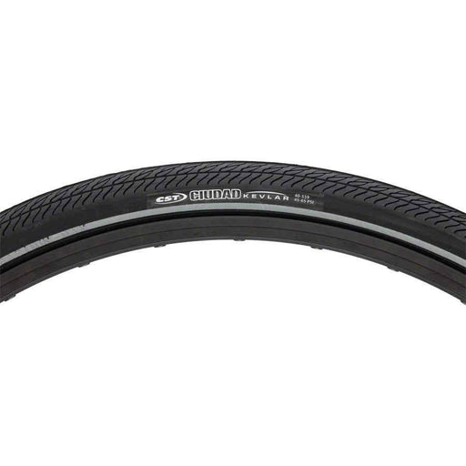 Ciudad Bike Tire: 700x32 Steel Bead Black with Aramid Puncture Protection