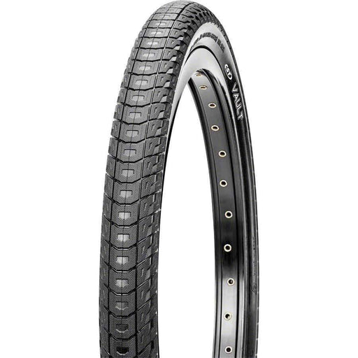Vault BMX Bike Tire: 20x1.95 Steel Bead Black