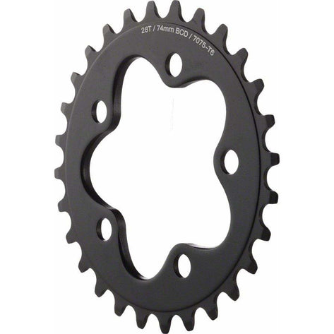 Dimension  28t x 74mm Inner Chainring Black
