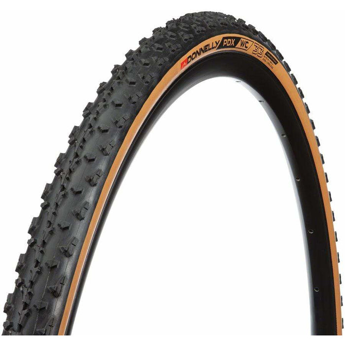 Donnelly PDX WC Tire - 700 x 33c, Tubeless, Folding/Tan, 240tpi