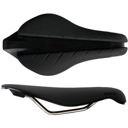 Fabric Tri Race Flat Saddle: Black