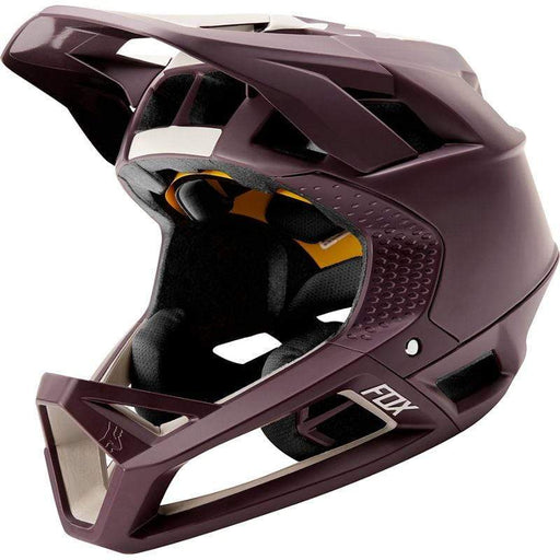 Proframe Matte Full Face Mountain Bike Helmet - Purple