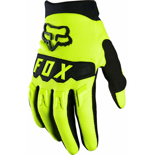 Fox Youth Dirtpaw Bike Gloves - Yellow