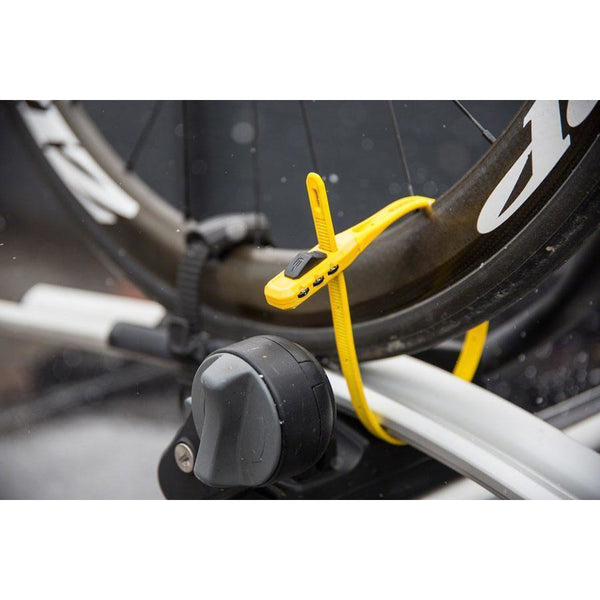 Z-Lok Combo Security Tie Bike Lock Single: Yellow