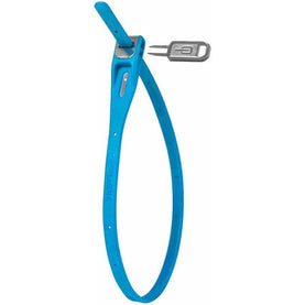 Z-Lok Security Tie Bike Lock Single: Cyan