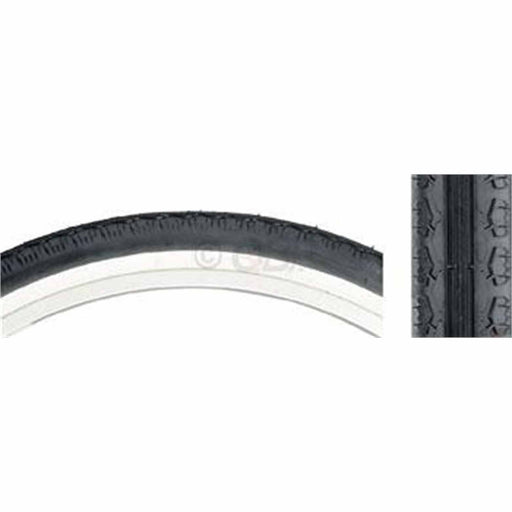 K130 Cruiser Bike Tire 26x2.125 Steel Bead Black/White