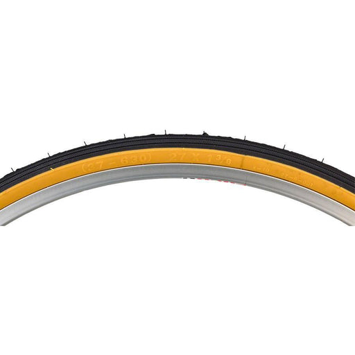 Street K40 Road Bike Tire 27 x 1 3/8 Black/Tan Steel