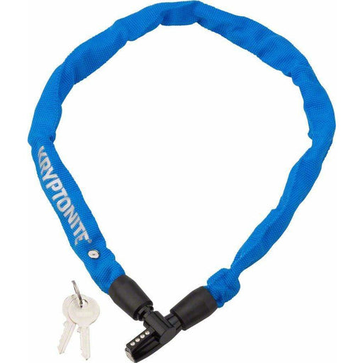 Kryptonite  Keeper 465 Chain Bike Lock with Key: 2.13' x 4mm Blue