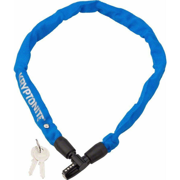 Keeper 465 Bike Chain Lock with Key: 2.13' x 4mm Blue