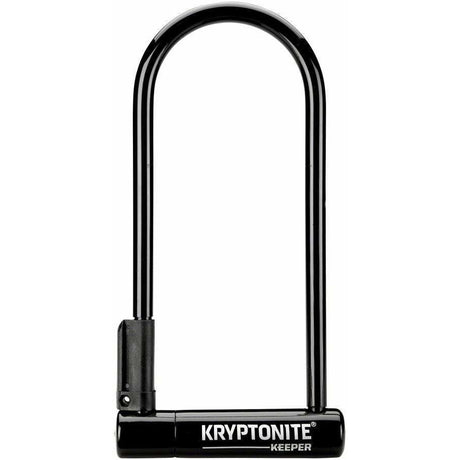 "Kryptonite Keeper Bike U-Lock - 4 x 10"", Keyed, Black, Includes bracket"