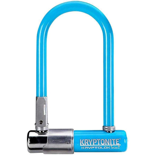 "Kryptonite Krypto Series 2 Mini-7 Keyed Bike U-Lock - 3.25 x 7"" Blue"