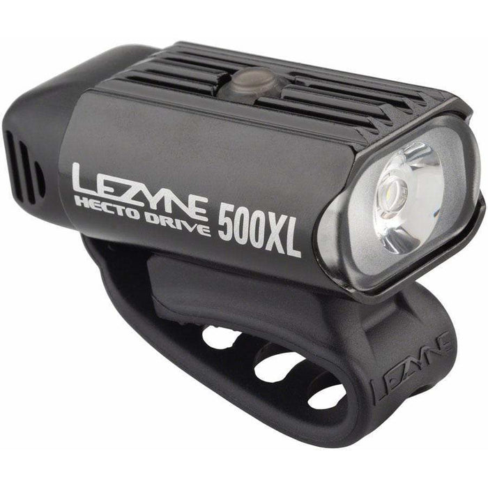 Lezyne Hecto Drive 500XL Bike Headlight: Gloss Black
