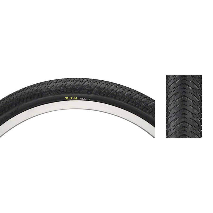 "DTH Bike Tire: 20 x 1-3/8"", Wire, 120tpi, Dual Compound, SilkWorm"