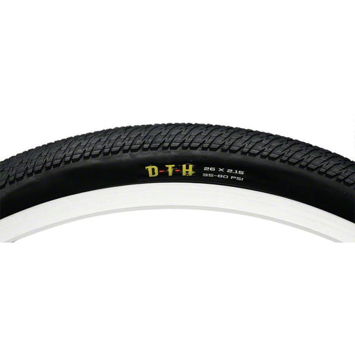 "DTH Bike Tire: 26 x 2.15"", Folding, 60tpi, Single Compound"
