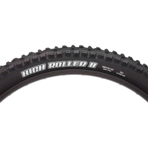 "High Roller II Bike Tire: 26 x 2.40"", Folding, 60tpi, Single Compound, EXO, Black"