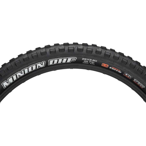 "Minion DHF Bike Tire: 26 x 2.80"", Folding, 120tpi, 3C MaxxTerra, EXO, Tubeless Ready, Black"