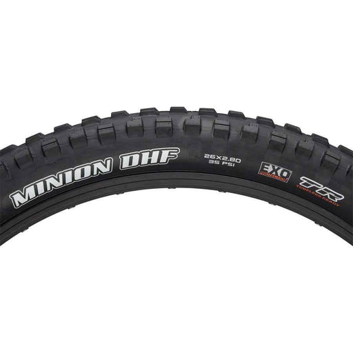 "Maxxis Minion DHF Bike Tire: 26 x 2.80"", Folding, 60tpi, Dual Compound, EXO, Tubeless Ready"