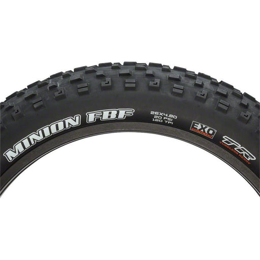 "Maxxis Minion FBF Bike Tire: 26 x 4.80"", Folding, 120tpi, Dual Compound, EXO, Tubeless Ready"