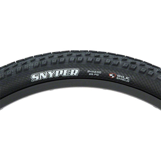 "Snyper Bike Tire: 24 x 2.00"", Folding, 60tpi, Dual Compound, SilkShield"