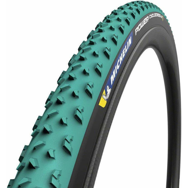 Power Cyclocross Mud Tire -700 x 33, Tubeless, Folding, Green/Black