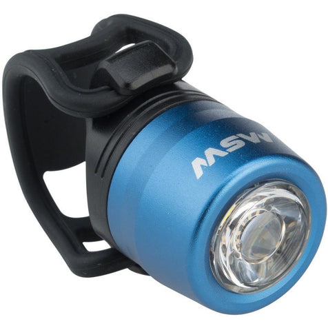 MSW HLT-017 Cricket Blue USB Rechargeable Commuter Front Bike Light