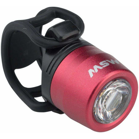 MSW HLT-017 Cricket Red USB Rechargeable Commuter Front Bike Light