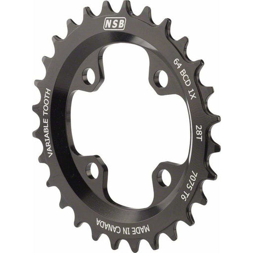 North Shore Billet Variable Tooth Chainring: 28T, Standard 64 BCD