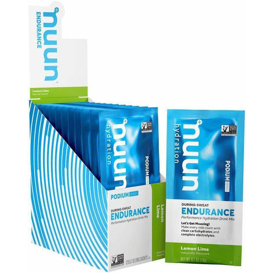 nuun Nuun Endurance Hydration Drink Mix - Lemon Lime, Box of 12 Single Serving Sleeves