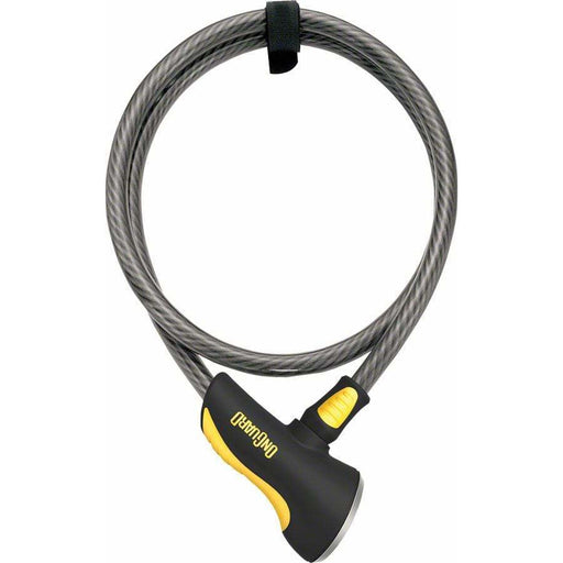 OnGuard Akita Bike Cable Lock with Key: 6' x 12mm, Gray/Black/Yellow
