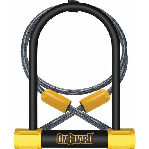 "OnGuard BullDog Series U-Lock - 4.5 x 9"", Keyed, Black, Includes 4' cable and bracket"