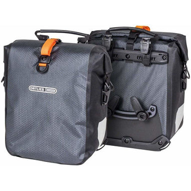 Ortlieb  Gravel Pack Pannier Set: 25 Liter, Gray/Black