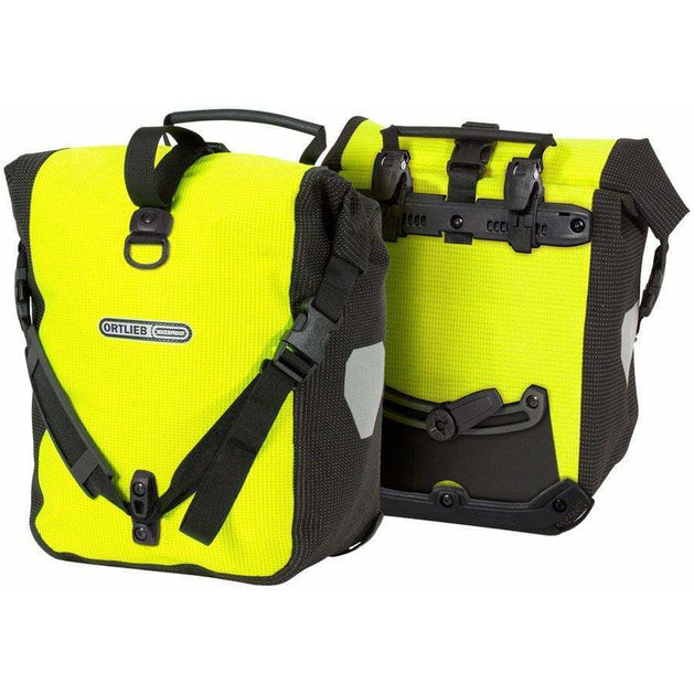 Sport-Roller High Visibility Bike Pannier: 25 Liter, Pair, Yellow