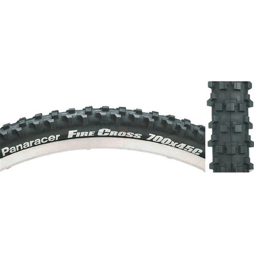 Fire Cross 700x45c Knobby Folding Black Bike Tire