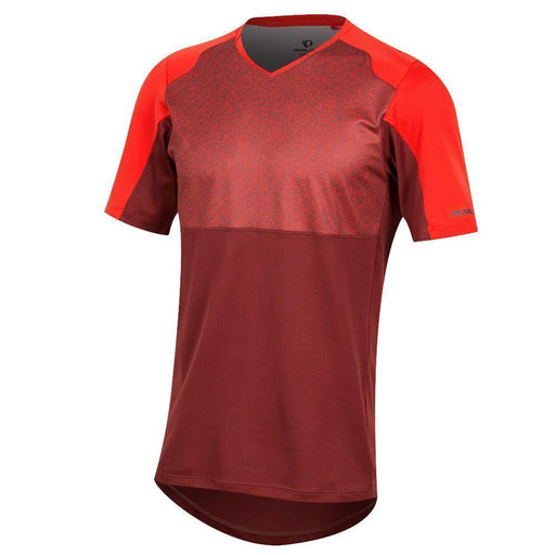 Pearl Izumi Men's Launch Short Sleeve Mountain Bike Jersey - Red