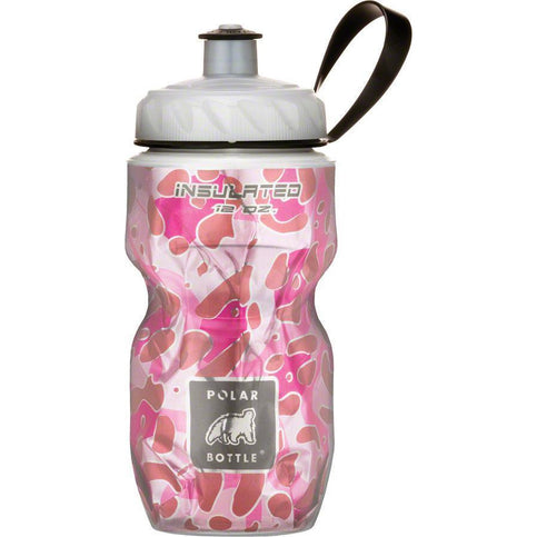 Polar Bottles Polar Insulated Water Bottle: 12oz, Pink Leopard