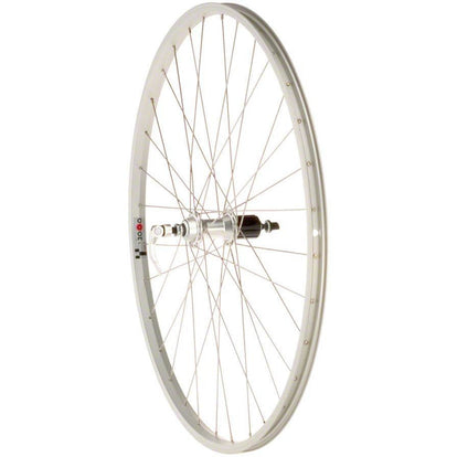 Value Series Silver Pavement Rear Wheel 700c Formula 130mm Freehub / Alex Y2000 Silver