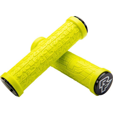 RaceFace Grippler Bike Handlebar Grips - Yellow, Lock-On, 30mm