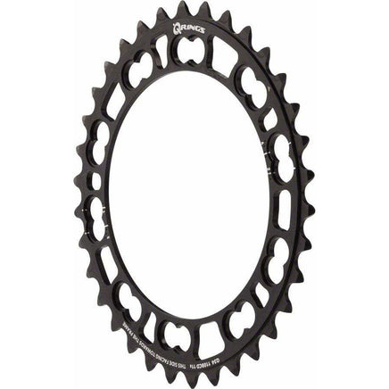 Rotor  Q-Ring 110 x 5 BCD Five Oval Position Chainring: 34t inner for usewith 50t outer rings