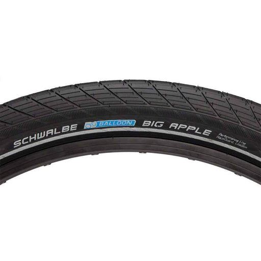 "Big Apple Bike Tire: 26 x 2.35"", Wire Bead, Performance Line, Endurance Compound, RaceGuard, Black/Reflect"