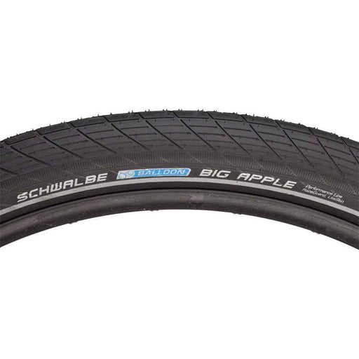 "Big Apple Bike Tire: 29 x 2.35"", Wire Bead, Performance Line, Endurance Compound, RaceGuard, Black/Reflect"