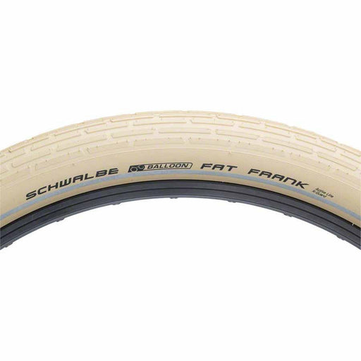 "Fat Frank Bike Tire: 26 x 2.35"", Wire Bead, Active Line, Basic Compound, K-Guard, Creme/Reflect"