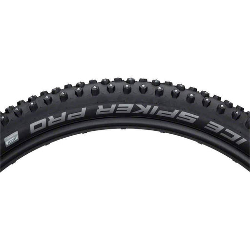 "Schwalbe Ice Spiker Pro Wire Bead Bike Tire 27.5 x 2.25"" Performance Line Winter Compound RaceGuard 378 Steel Studs"