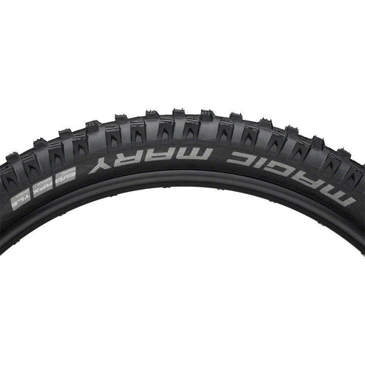 "Schwalbe Magic Mary Bike Tire: 27.5 x 2.80"", Folding Bead, Evolution Line, Addix Soft Compound, SnakeSkin, Tubeless Easy, Apex"